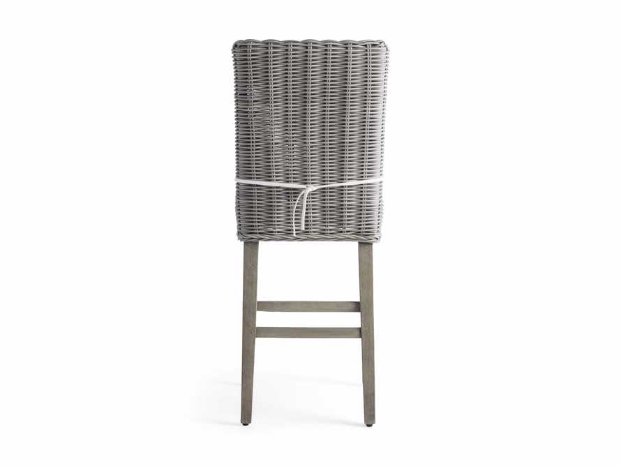 "Wyatt Outdoor 20"" Barstool in Vista Grey, slide 4 of 5"