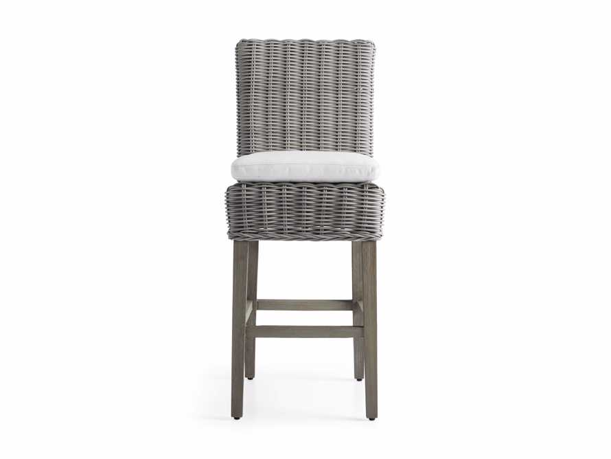 "Wyatt Outdoor 20"" Barstool in Vista Grey, slide 2 of 5"