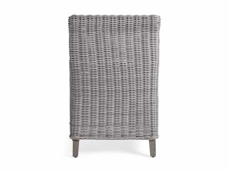 "Wyatt Outdoor 28"" Dining Arm Chair in Vista Grey"