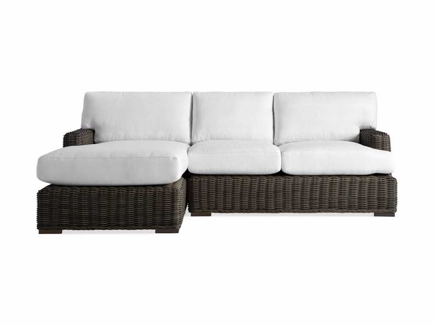 Wyatt Outdoor Two Piece Left Arm Sectional in Dry Bark, slide 2 of 2
