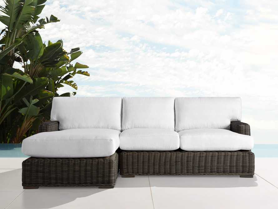 Wyatt Outdoor Two Piece Left Arm Sectional in Dry Bark, slide 1 of 2