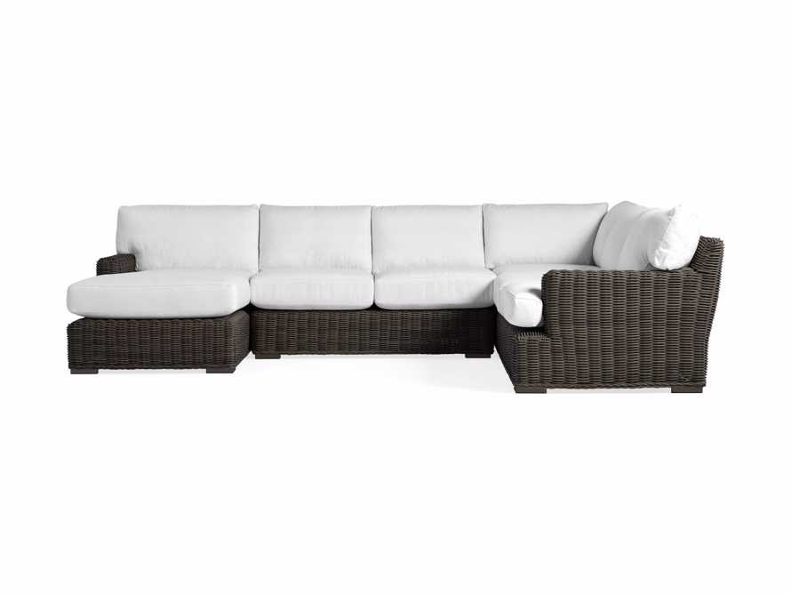 Wyatt Outdoor Four Piece Right Arm Sectional in Dry Bark, slide 2 of 2