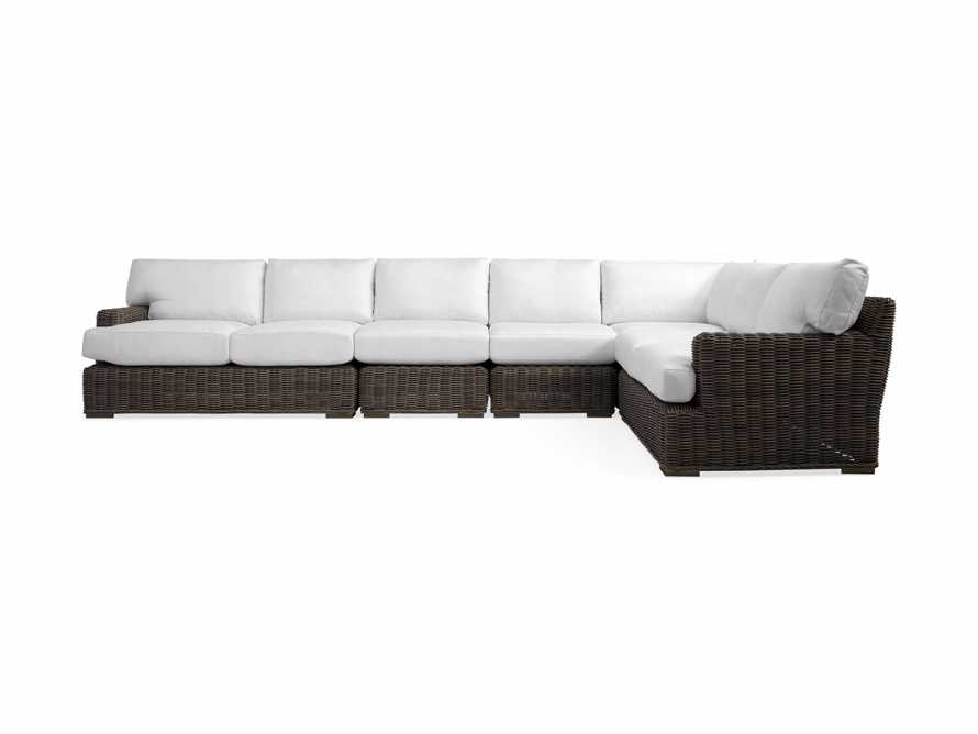Wyatt Outdoor Five Piece L-Shaped Sectional in Dry Bark, slide 2 of 2