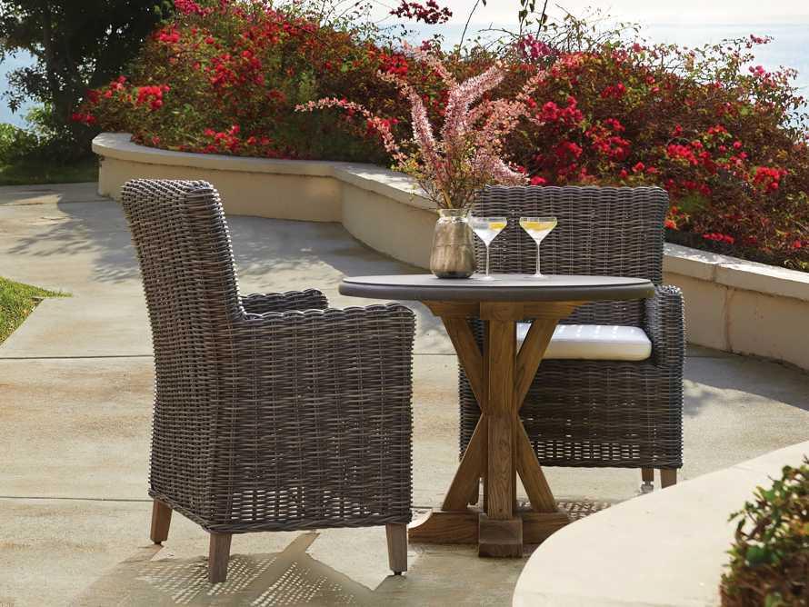 "Wyatt Outdoor 29"" Dining Arm Chair in Dry Bark, slide 1 of 6"