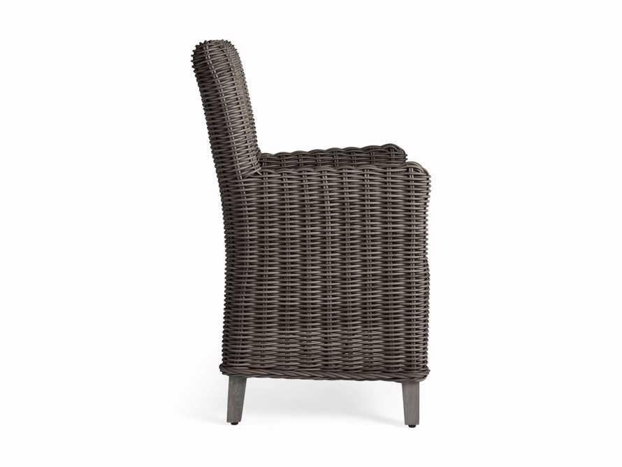 "Wyatt Outdoor 29"" Dining Arm Chair in Dry Bark, slide 4 of 6"