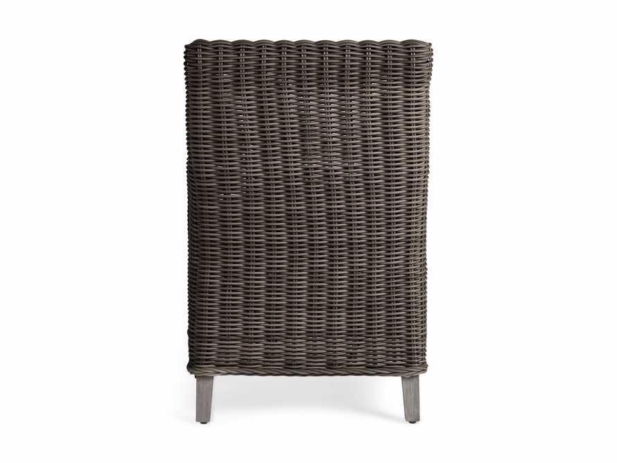 "Wyatt Outdoor 29"" Dining Arm Chair in Dry Bark, slide 5 of 6"