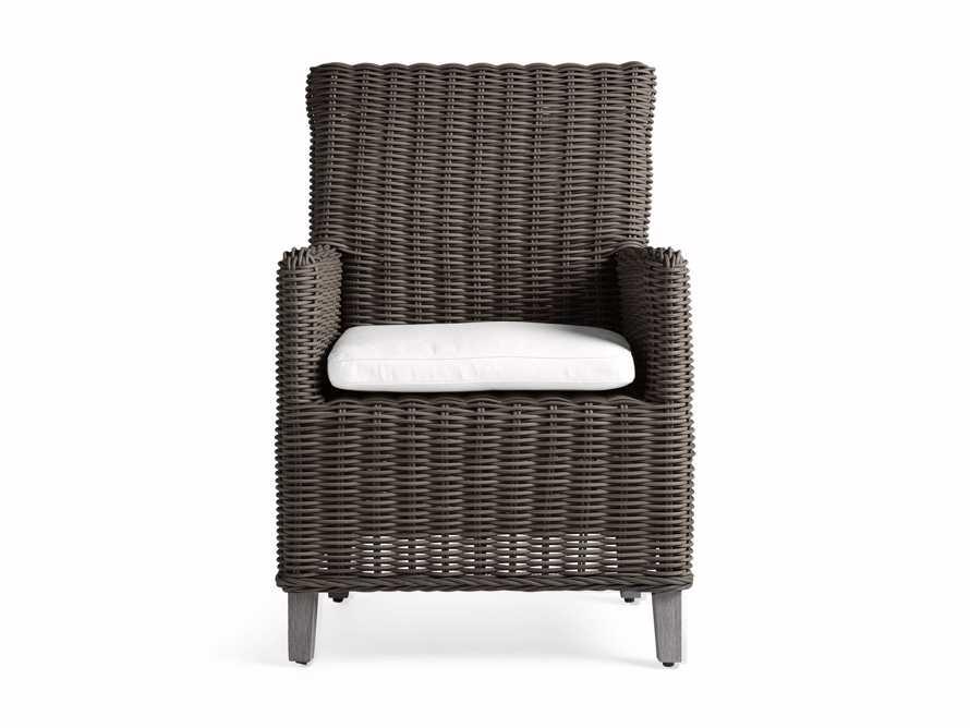 "Wyatt Outdoor 29"" Dining Arm Chair in Dry Bark, slide 3 of 6"