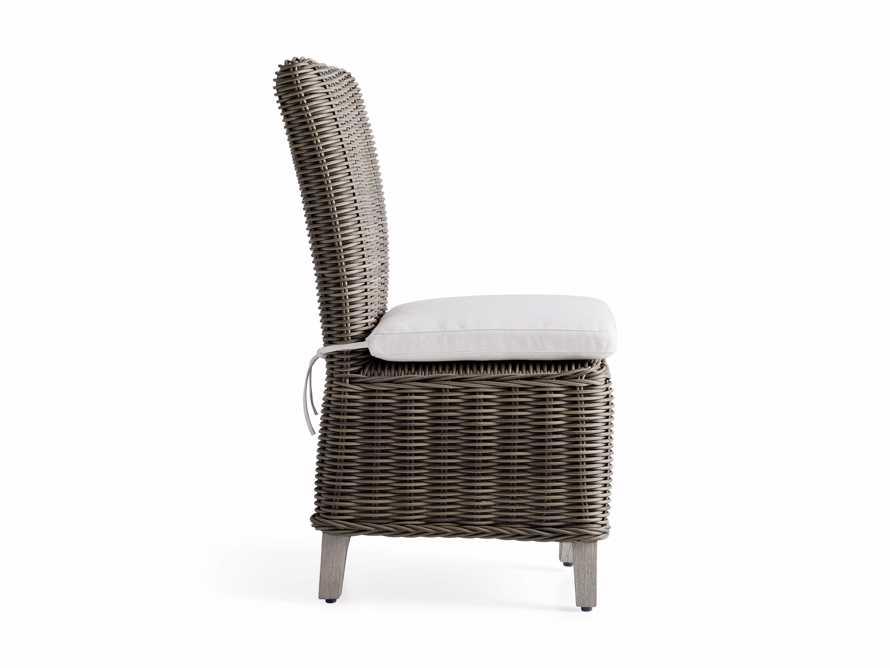 Wyatt Outdoor Dining Side Chair in Dry Bark, slide 3 of 5