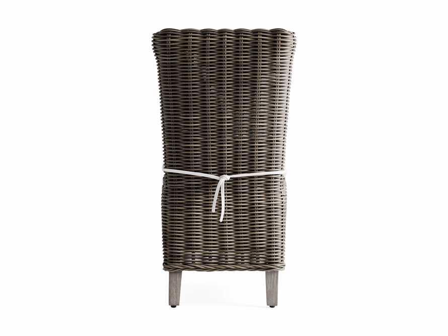 Wyatt Outdoor Dining Side Chair in Dry Bark, slide 4 of 5