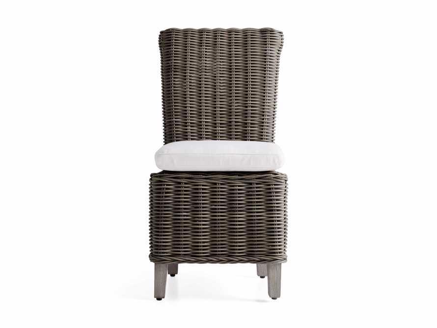 Wyatt Outdoor Dining Side Chair in Dry Bark, slide 2 of 5