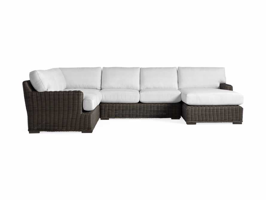 Wyatt Outdoor Four Piece Left Arm Sectional in Dry Bark, slide 2 of 2