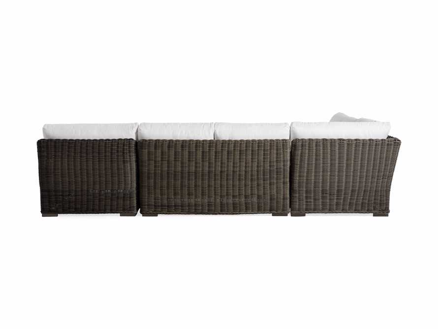 Wyatt Outdoor Four Piece Left Arm Sectional in Dry Bark, slide 4 of 4