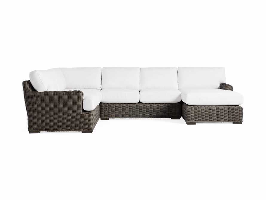 Wyatt Outdoor Four Piece Left Arm Sectional in Dry Bark, slide 2 of 4
