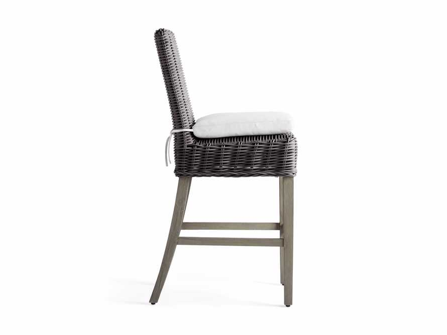 "Wyatt Outdoor 20"" Barstool in Dry Charcoal, slide 3 of 5"
