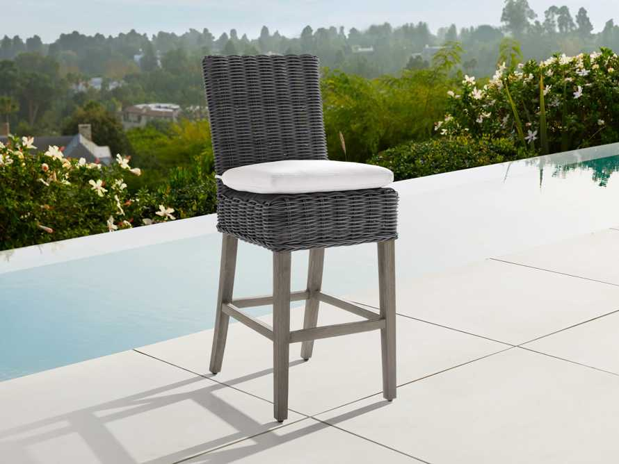 "Wyatt Outdoor 20"" Barstool in Dry Charcoal, slide 1 of 5"