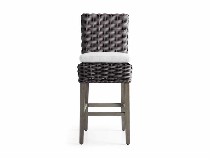 "Wyatt Outdoor 20"" Barstool in Dry Charcoal, slide 2 of 5"