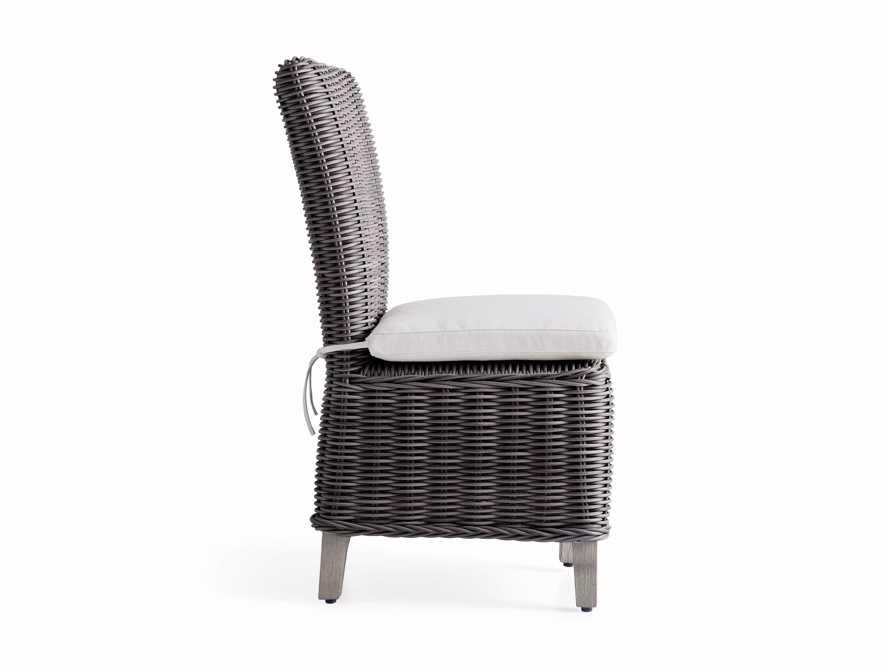 Wyatt Outdoor Dining Side Chair in Dark Charcoal, slide 3 of 5