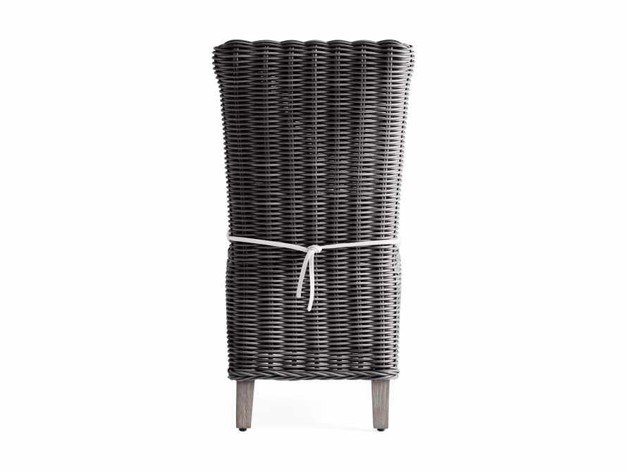 Wyatt Outdoor Dining Side Chair in Dark Charcoal, slide 4 of 5