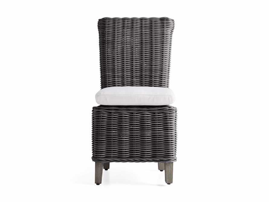 Wyatt Outdoor Dining Side Chair in Dark Charcoal, slide 2 of 5