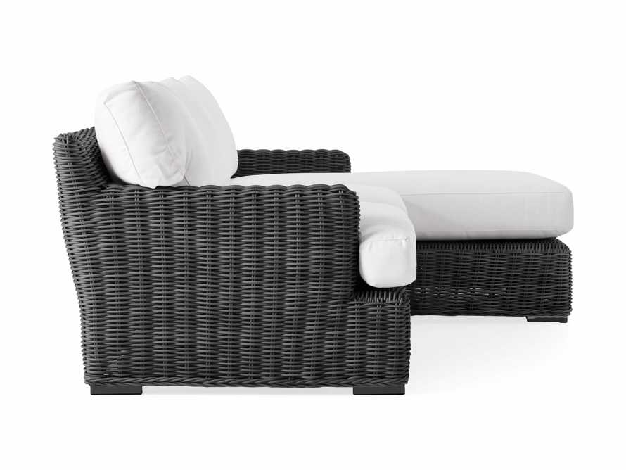 Wyatt Outdoor Two Piece Right Arm Sectional in Dark Charcoal, slide 3 of 4