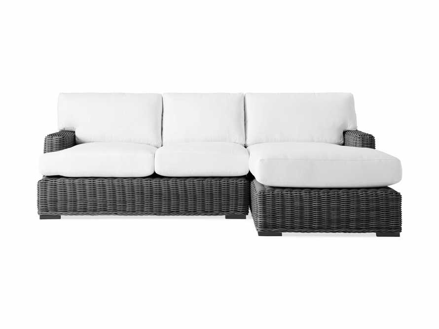 Wyatt Outdoor Two Piece Right Arm Sectional in Dark Charcoal, slide 2 of 4