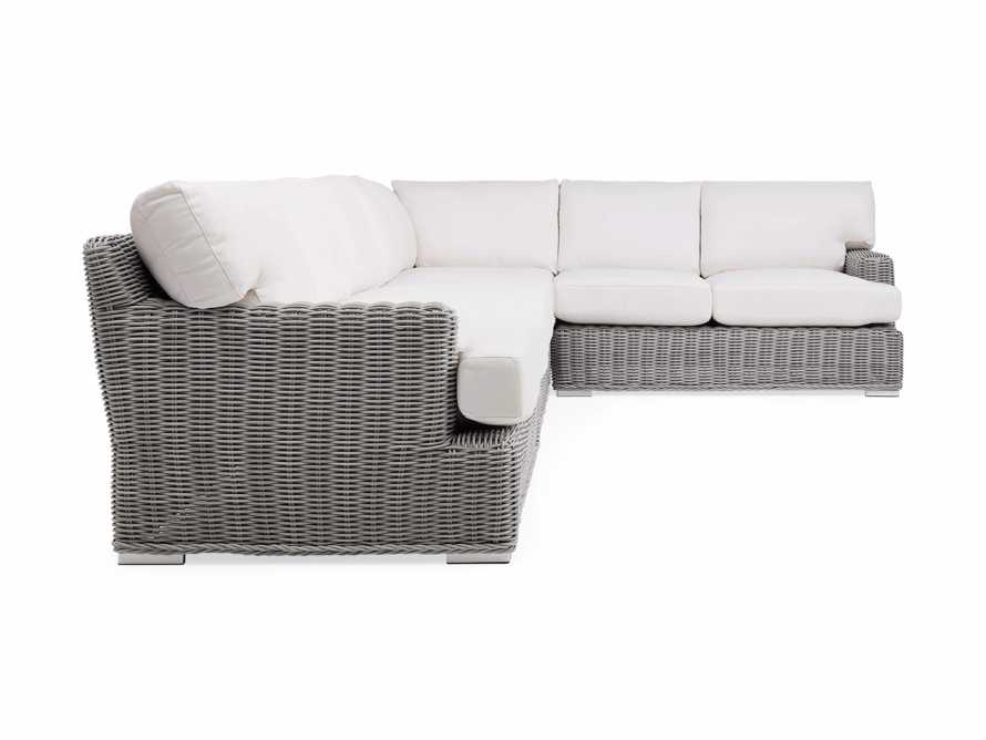 Wyatt Outdoor Four Piece L-Shaped Sectional in Vista Grey, slide 3 of 4