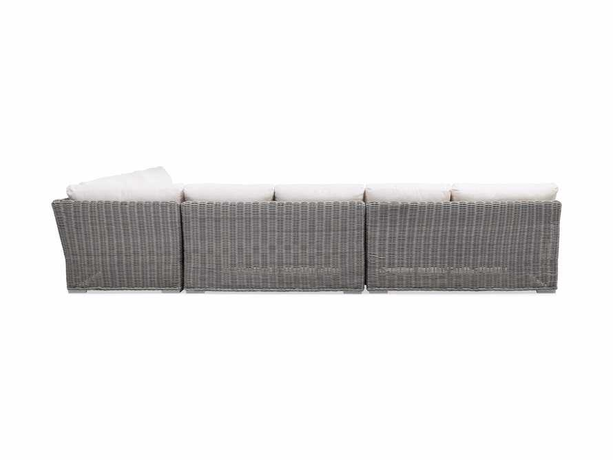 Wyatt Outdoor Four Piece L-Shaped Sectional in Vista Grey, slide 4 of 4