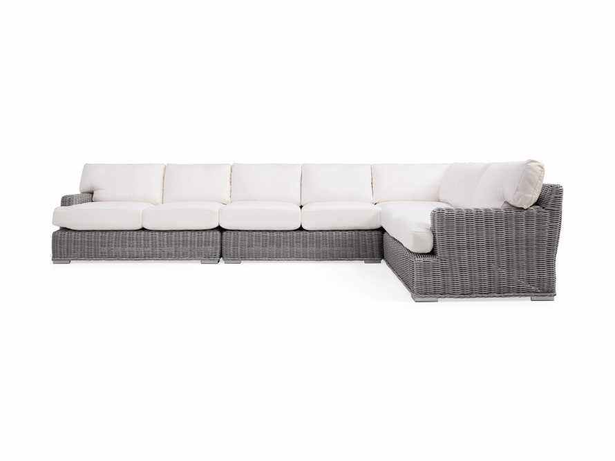 Wyatt Outdoor Four Piece L-Shaped Sectional in Vista Grey, slide 2 of 4