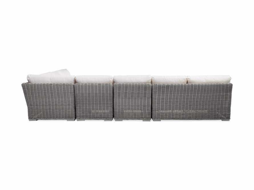 Wyatt Outdoor Five Piece L-Shaped Sectional in Vista Grey, slide 4 of 4