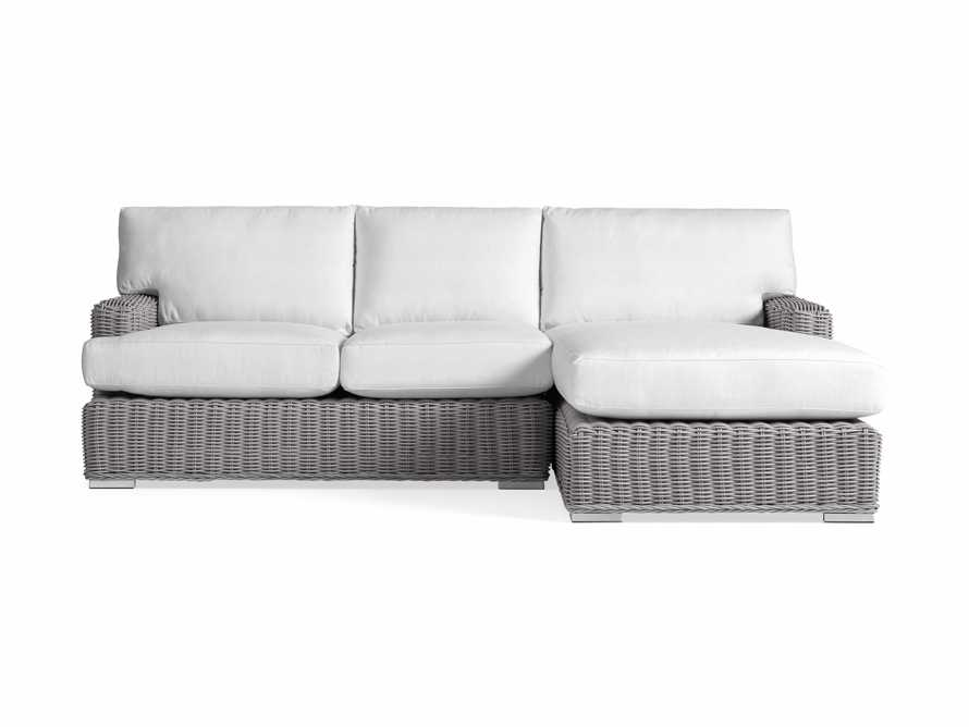 Wyatt Outdoor Two Piece Right Arm Sectional in Vista Grey, slide 2 of 2