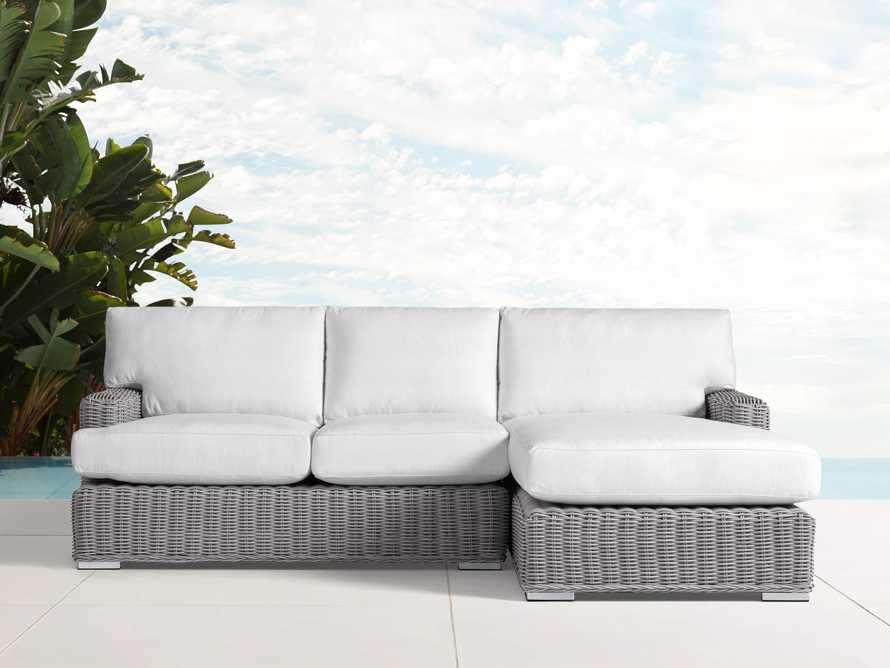 Wyatt Outdoor Two Piece Right Arm Sectional in Vista Grey, slide 1 of 2
