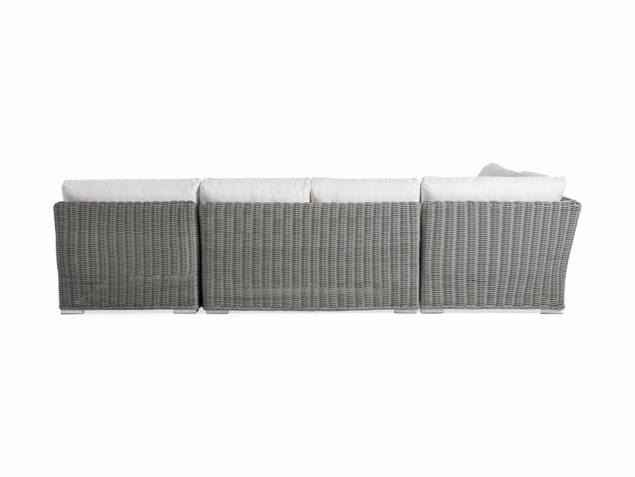 Wyatt Outdoor Four Piece Left Arm Sectional in Vista Grey, slide 4 of 4