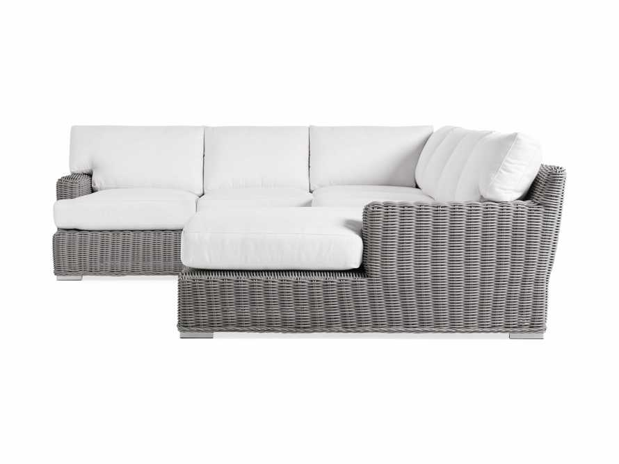 Wyatt Outdoor Four Piece Left Arm Sectional in Vista Grey, slide 3 of 4
