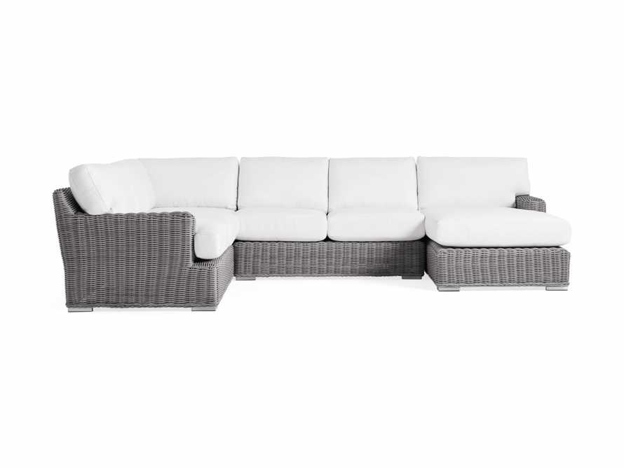 Wyatt Outdoor Four Piece Left Arm Sectional in Vista Grey, slide 2 of 4