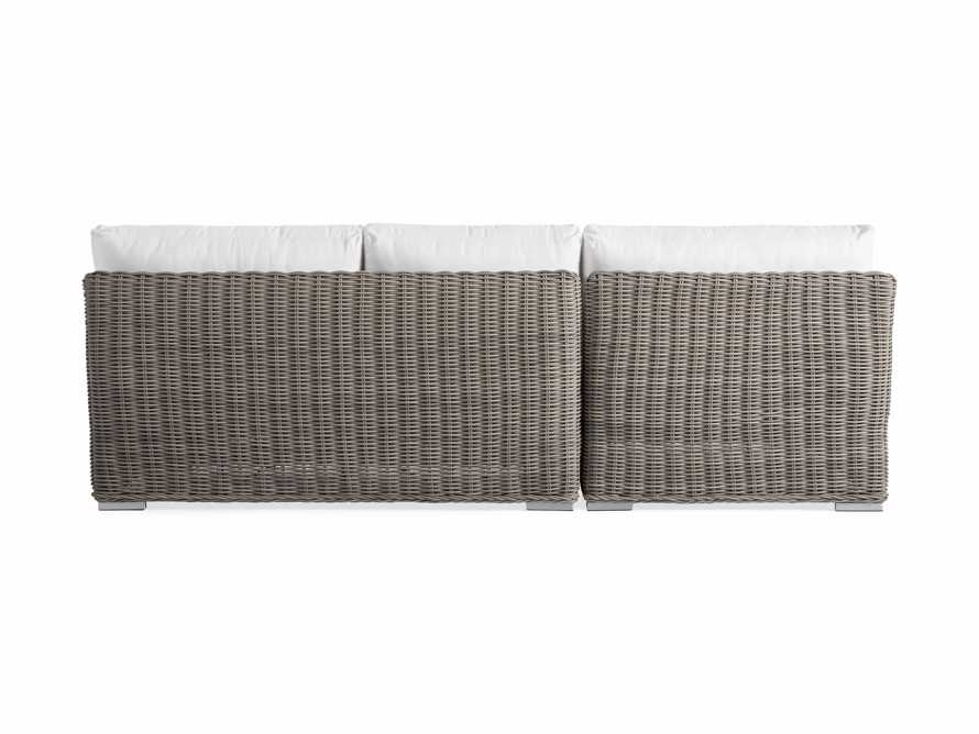 Wyatt Outdoor Two Piece Left Arm Sectional in Weathered Grey, slide 4 of 4
