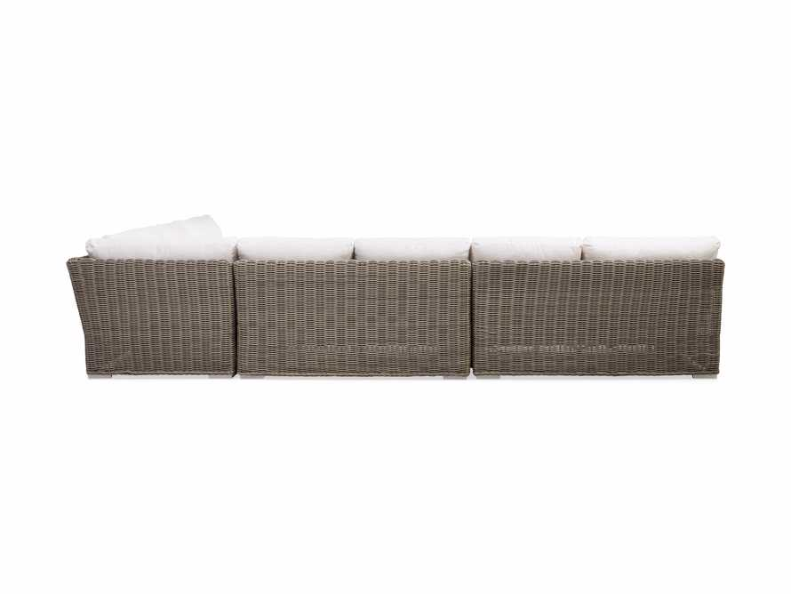 Wyatt Outdoor Four Piece L-Shaped Sectional in Weathered Grey, slide 4 of 4