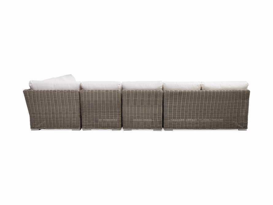 Wyatt Outdoor Five Piece L-Shaped Sectional in Weathered Grey, slide 4 of 4