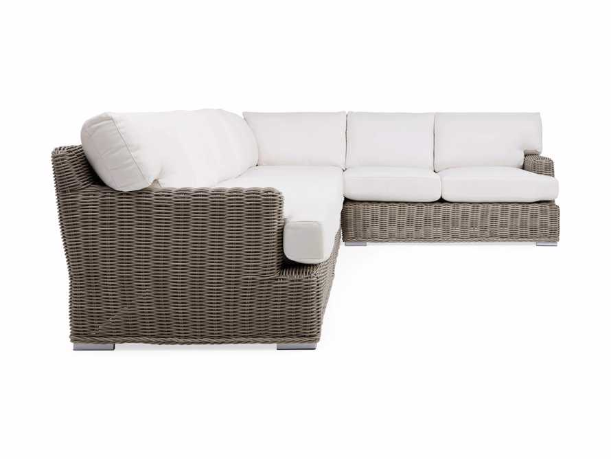 Wyatt Outdoor Five Piece L-Shaped Sectional in Weathered Grey, slide 3 of 4
