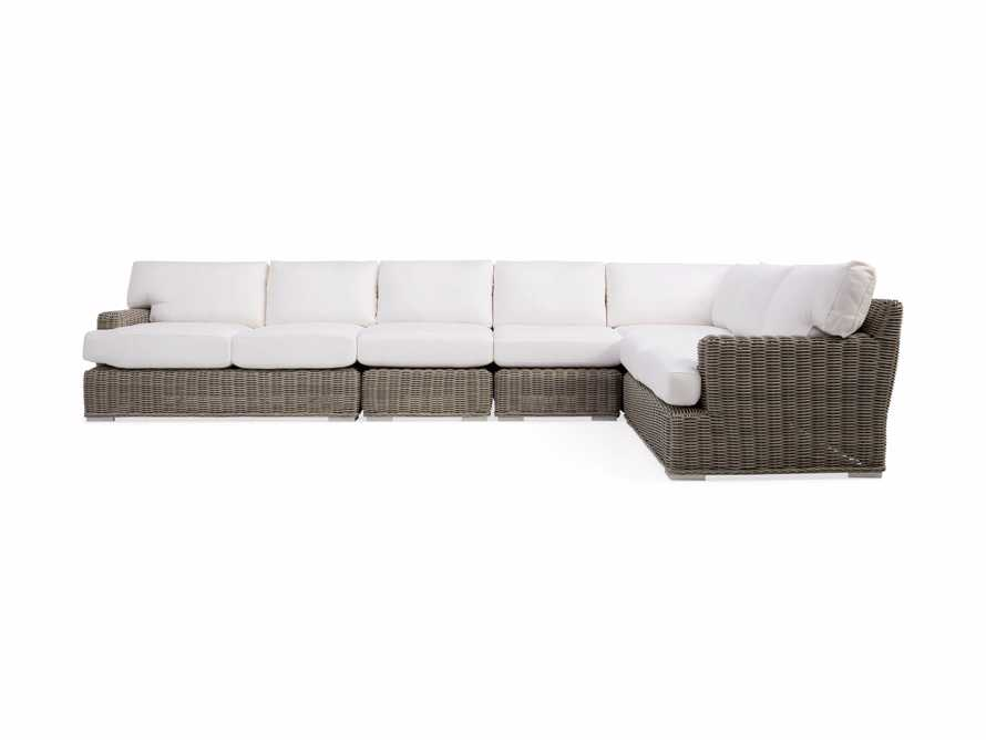 Wyatt Outdoor Five Piece L-Shaped Sectional in Weathered Grey, slide 2 of 4