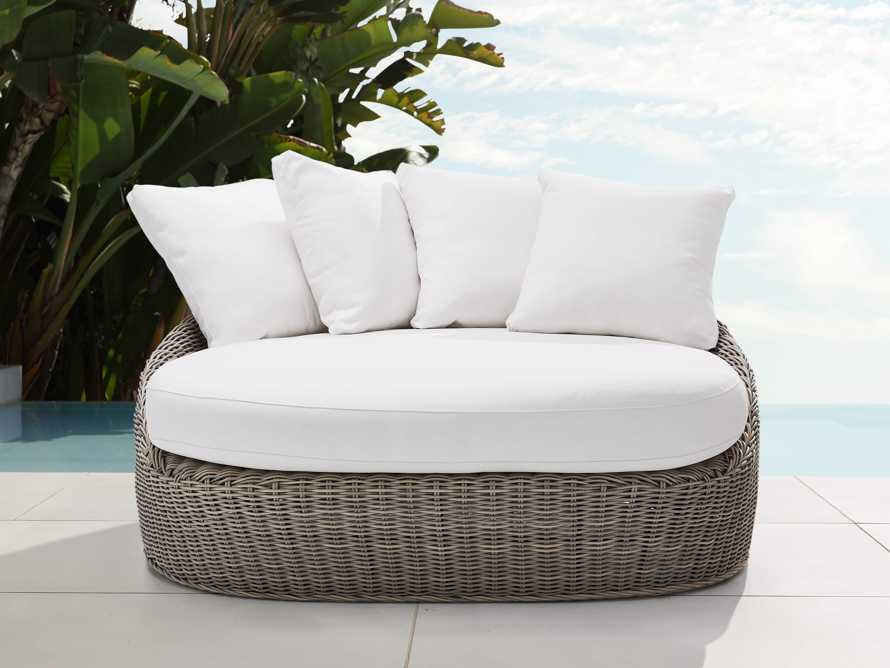 Wyatt Outdoor Daybed Lounge in Weathered Grey, slide 1 of 5