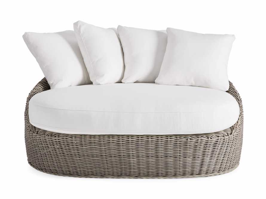 Wyatt Outdoor Daybed Lounge in Weathered Grey, slide 2 of 5