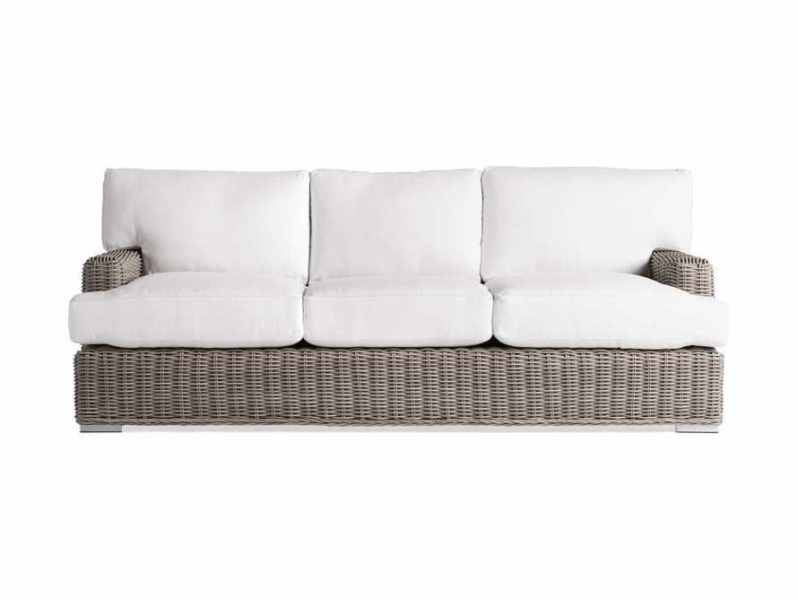"Wyatt Outdoor 89"" Sofa in Weathered Grey"