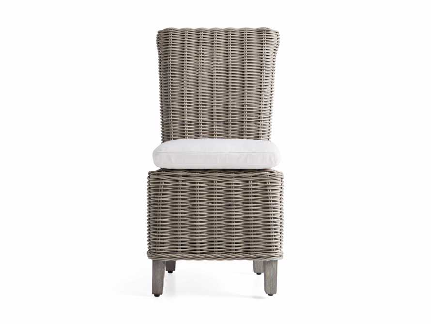 """Wyatt Outdoor 21"""" Dining Side Chair in Weathered Grey, slide 3 of 5"""