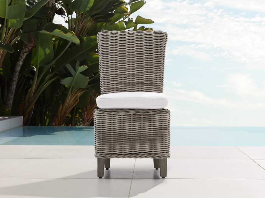 """Wyatt Outdoor 21"""" Dining Side Chair in Weathered Grey, slide 1 of 5"""