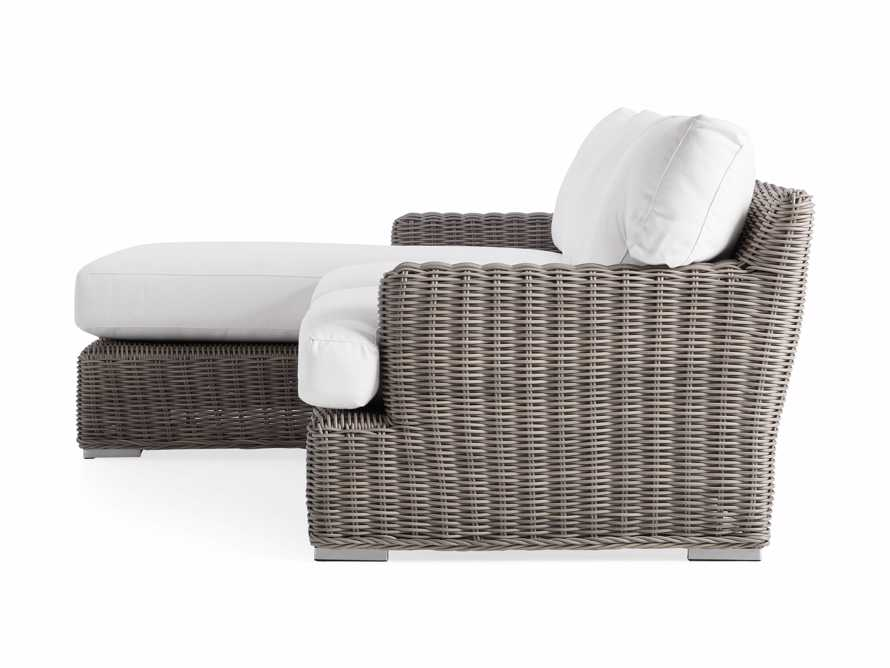 Wyatt Outdoor Left Arm Two Piece Sectional in Weathered Grey, slide 3 of 4