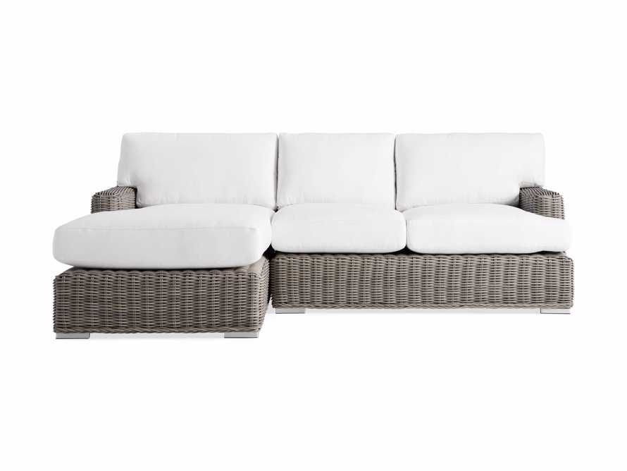 Wyatt Outdoor Left Arm Two Piece Sectional in Weathered Grey, slide 2 of 4