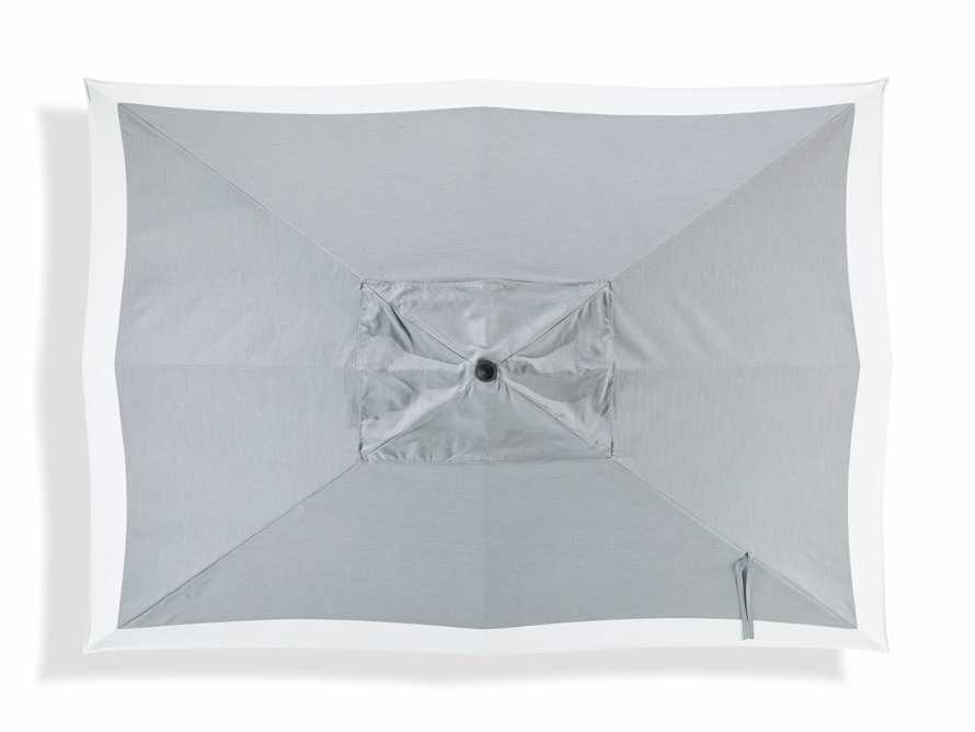 8' x 11' Rectangular Border Umbrella in Canvas Granite and White Border with Black Frame, slide 3 of 4