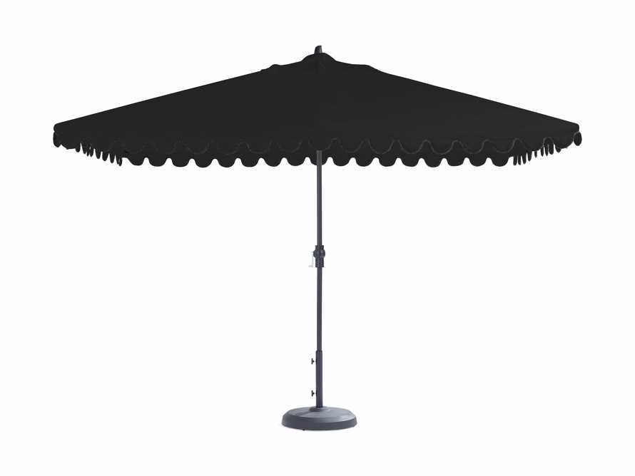 8' X 11' Rectangular Umbrella In Canvas Black With Black Frame, slide 1 of 1