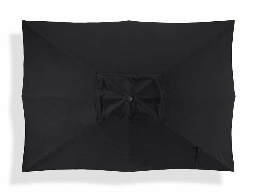 8' x 11' Rectangular Scalloped Umbrella in Canvas Black and Natural Trim with Black Frame, slide 3 of 4