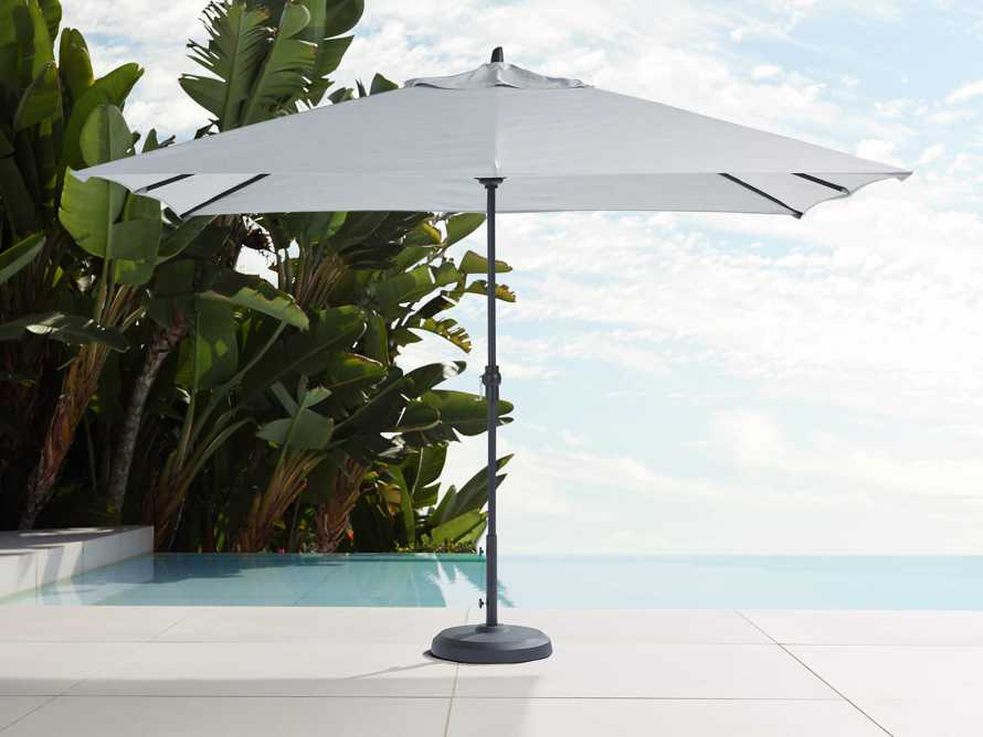 8' x 11' Rectangular Umbrella in Canvas Granite with Black Frame, slide 1 of 4